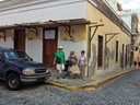 A less scenic street corner in Old San Juan.